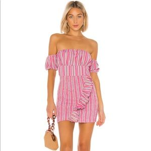 nwt TULAROSA REVOLVE TIFFANY DRESS PURPLE STRIPE